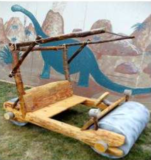 The Flintstone Mobile at the Rice Northwest Museum of Rocks and Minerals Summer Festival.