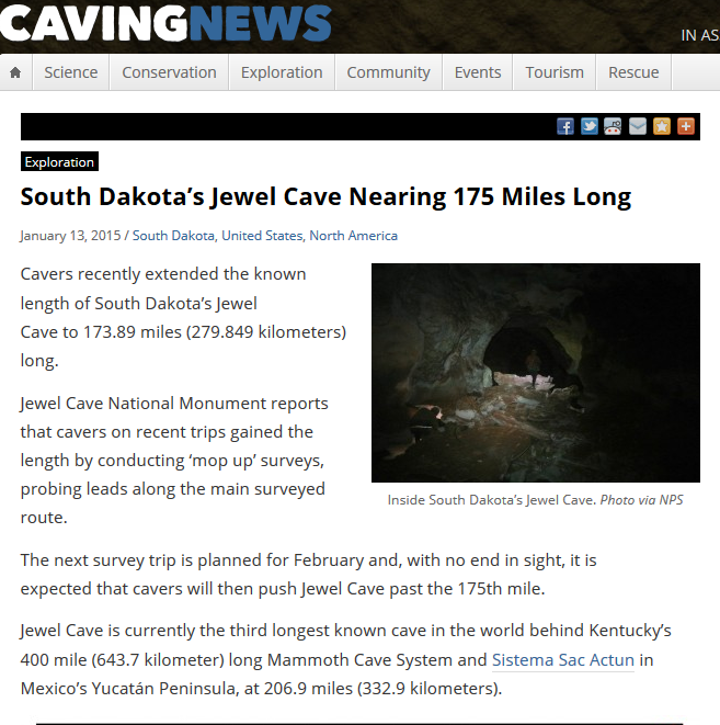 Jewel Cave Growing