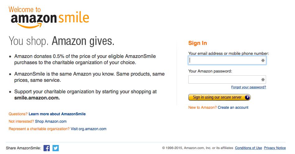 Amazon Smile Login
