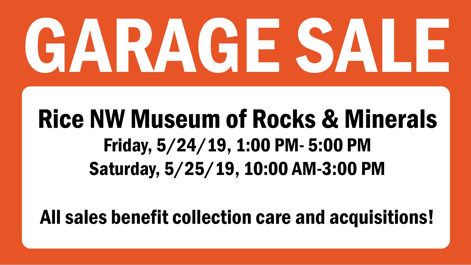 2019 May Garage Sale