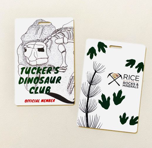 Tucker's Dinosaur Club Members Badge